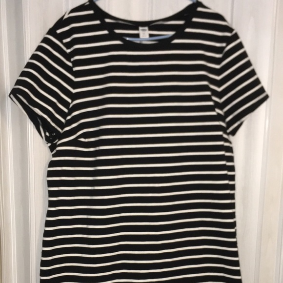 Striped plus size old navy dress